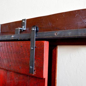 Reclaimed Wood Sliding Bi-Pass Barn Doors in Waterford, Virginia