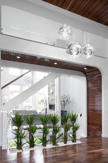 Modern Entry by rectangle design inc