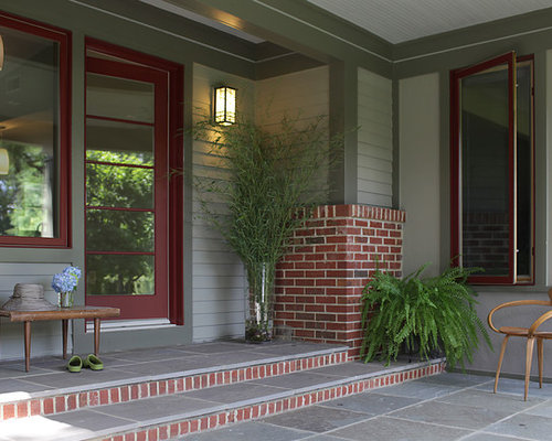 Exterior paint colors with red brick trim houzz Exterior paint with red brick