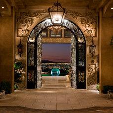 Mediterranean Entry by Sun West Custom Homes LLC
