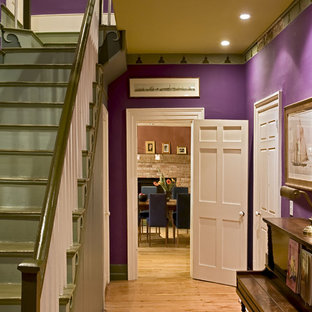 Renovated front hall and stairs of the original 1820's home