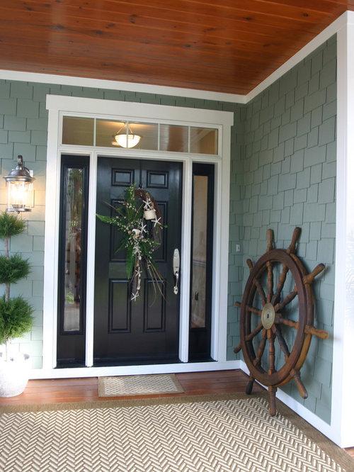 Front Door With Side Lights Houzz