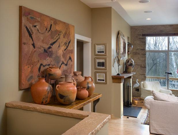 Rustic Entry by Melaragno Design Company, LLC
