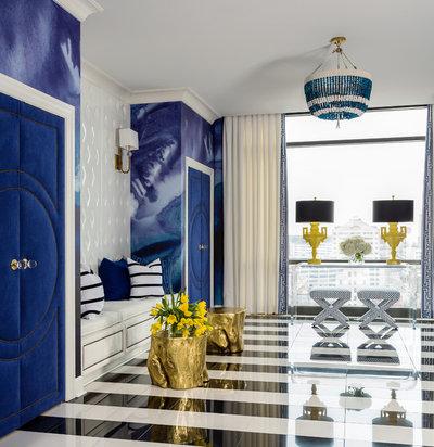 Contemporary Entry by Tobi Fairley Interior Design