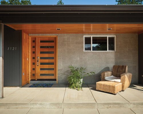 Great Example Of A Trendy Entryway Design In San Francisco With A Medium Wood  Front Door