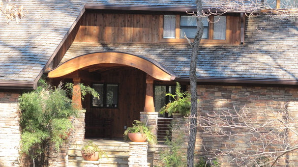 Modern Entry Roof over front porch