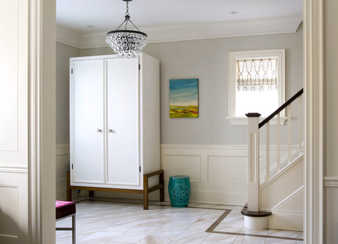 Modern Entry by Lisa Ferguson Interior Design