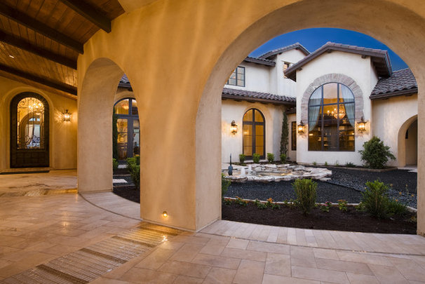 Mediterranean Entry by Cornerstone Architects