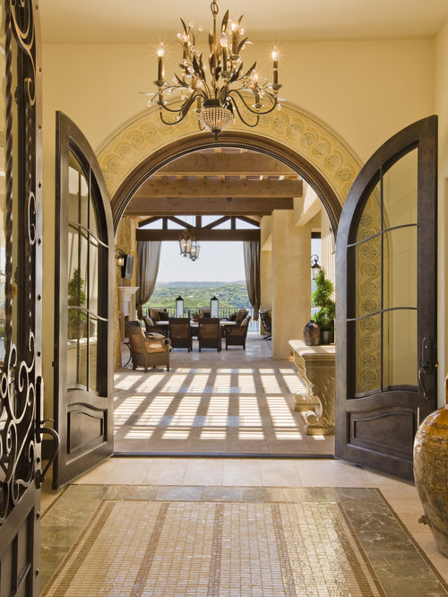 Outdoor patio entryway design ideas remodels photos for Mediterranean style entry doors