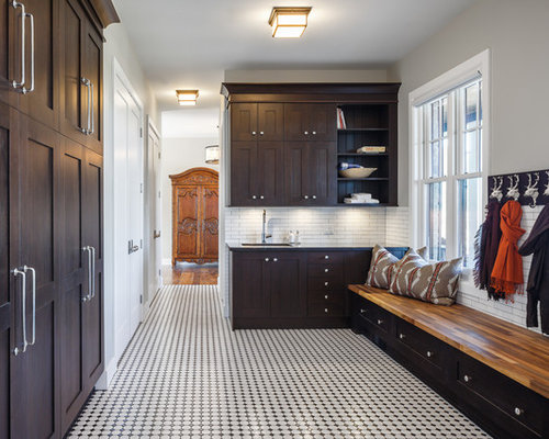 Brown Shaker Cabinets | Houzz