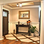 Garage Corner Mudroom Traditional Entry Atlanta By