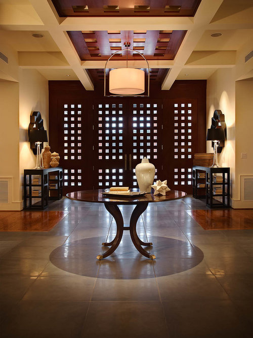 Coffered Ceiling Foyer : Contemporary coffered ceiling entryway design ideas
