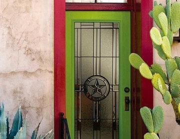 Rustic and Unique Front Door
