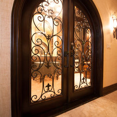 Traditional Entry by Joseph and Curtis Custom Wine Cellars