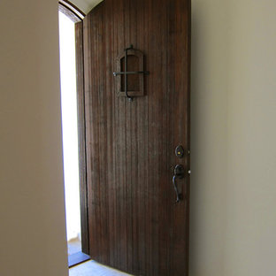 Rustic Entry Door for a Small Spanish Cottage in Montecito CA