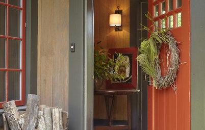 Stylish Log Storage for Traditional Homes