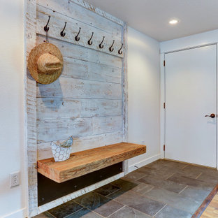Rustic Farmhouse Entryway Bench and Coat Rack