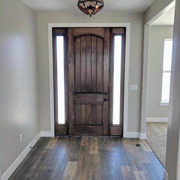 Rustic flooring in entry way