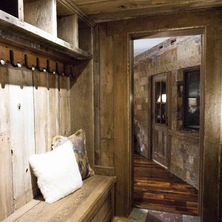 Rustic Mudroom Entry- Allenspark Bunkhouse