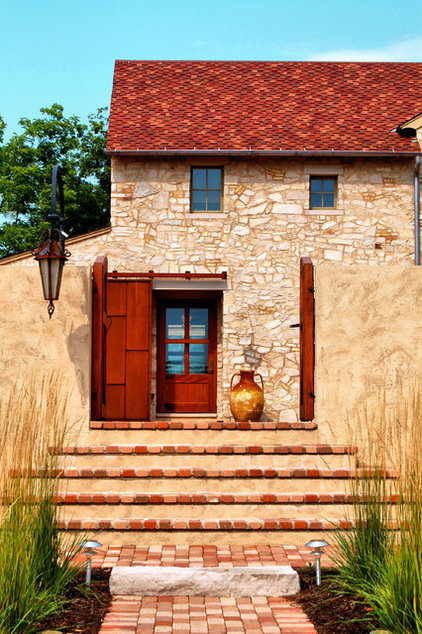Rustic Entry by Michael Abraham Architecture