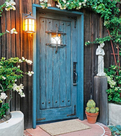 Rustic Entry by Sheri Mize Design Studios