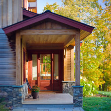 Rustic Entry by Peregrine Design Build