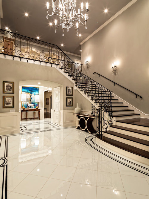 Foyer Stairs Review : Foyer with stairs houzz