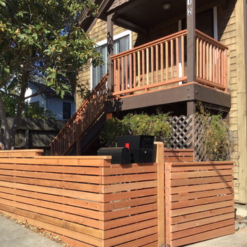 San Rafael Horizontal Fence and New Entry Stairs and Landing