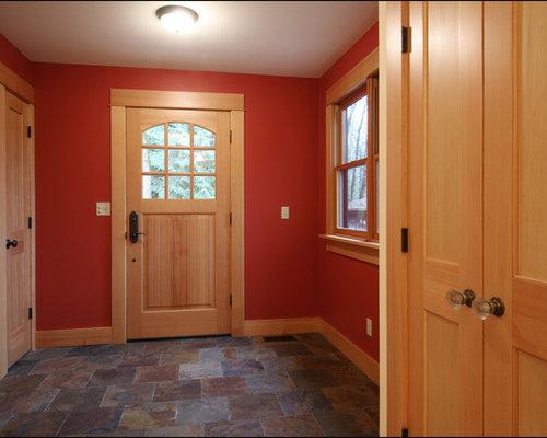 Entrée avec un mur rouge : photos et idées déco d'entrées de ...