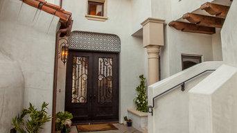 Santa Barbara Riviera Custom Home Entry