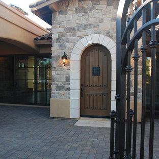 Santa Barbara Wrought Iron Arched Entrance and Courtyard