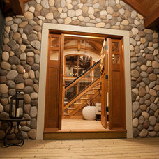 Rustic Entry by Northern Sky Developments