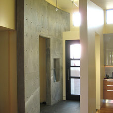 Contemporary Entry by Rich Mathers Construction, Inc.