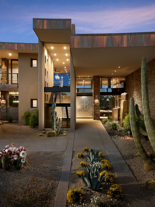 Modern desert landscape home design ideas pictures Modern desert landscaping ideas