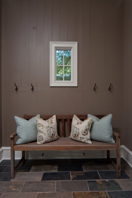 Rustic Entry by Anna Lattimore Interior Design