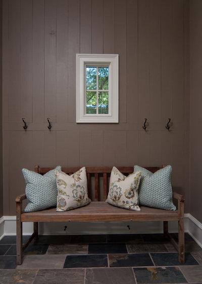 Rustic Entry by Anna Lattimore Interior Design