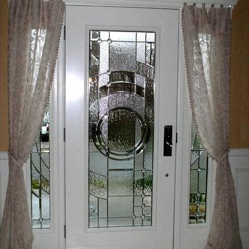 Sheer Panels on Front Entry Door