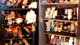 Shoe Cabinet Organizing