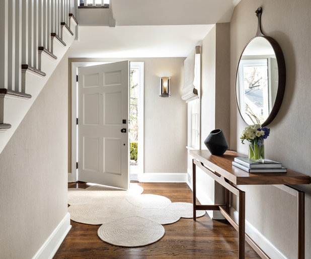 Transitional Foyer Hallway: Key Entryway Dimensions For Homes Large And Small