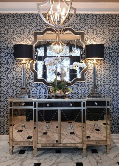 Transitional Entry by Dona Rosene Interiors