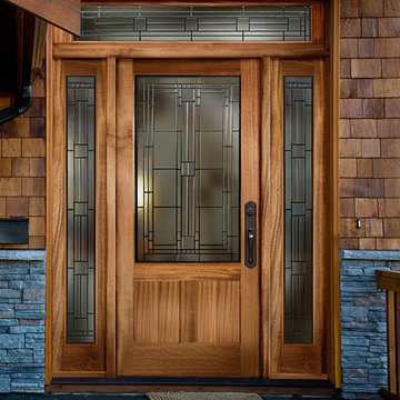Simpson Entry Doors - Beautify crafted all wood design with decorative glass