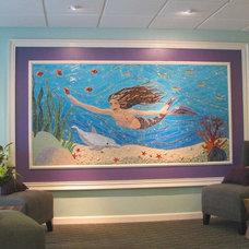 Tropical Entry by Art Mosaics of the Carolinas, LLC