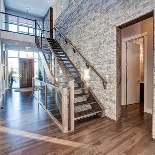 Smoky Grey Hardwood Floor - Entry