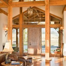 Rustic Entry by Van Bryan Studio Architects