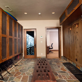 Mudroom - contemporary mudroom idea in Denver