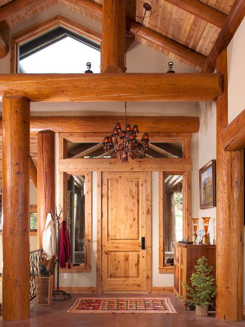 Houzz Rustic Foyer : Best cabin entryway design ideas remodel pictures houzz