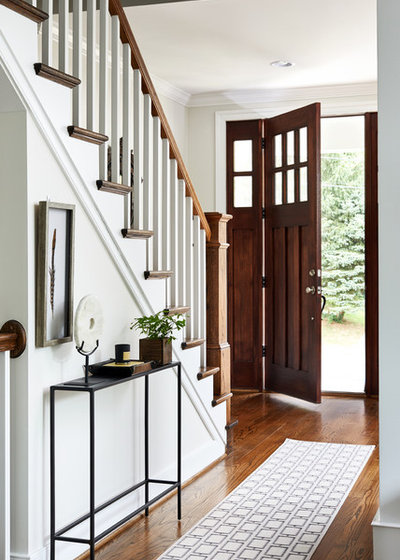 Transitional Entry by Haus Interior Design