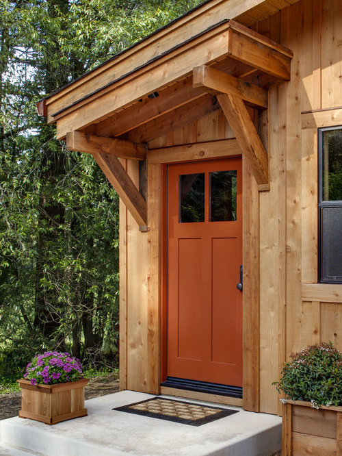 Orange Front Door Houzz