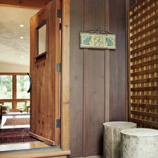 Rustic Entry by 450 Architects, Inc.