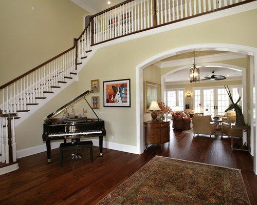 Houzz Elegant Foyers : Piano in foyer houzz